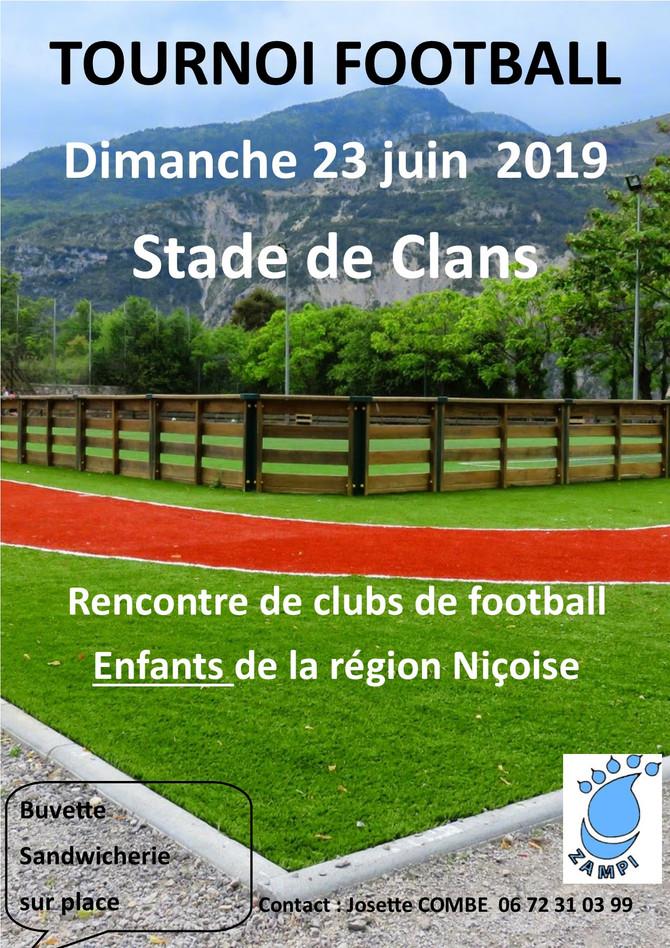 Tournoi foot enfants dimanche 23 juin 2019