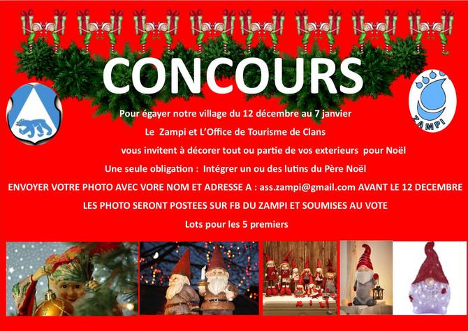 Concours décoration de Noël : décembre  2020