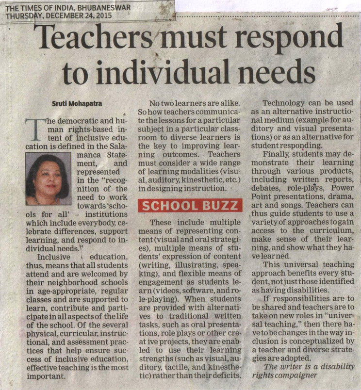 Inclusive Education - Paper Clipping 201