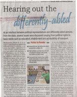 Hearing out the differently abled.