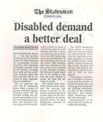 Disabled demand a better deal.