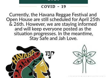 Havana Reggae Festival 2020 & COVID-19 Update #1