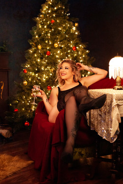 Christmas Boudoir Shoot