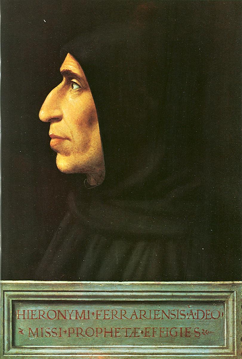 Retrato de Girolamo Savonarola, 1498 - Fra Bartolomeo, Museu de San Marco