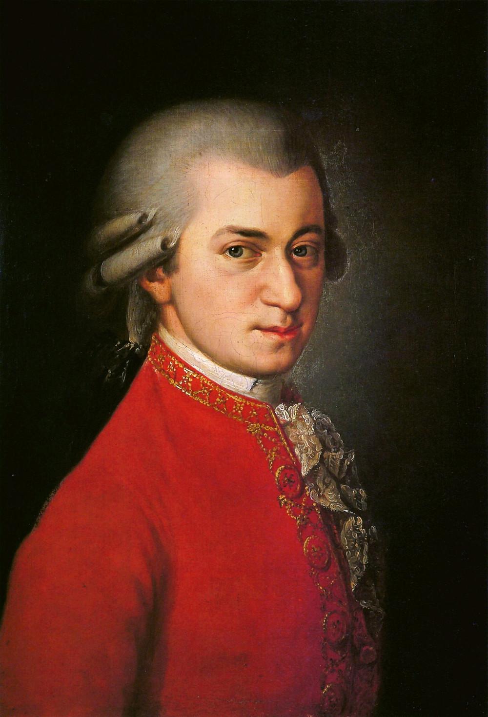 Retrato de Wolfgang Amadeus Mozart, por Barbara Krafft