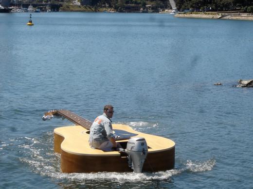 Josh Pike Guitar Boat