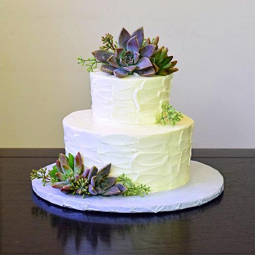 "Stucco Design ""Elopement Cake"""