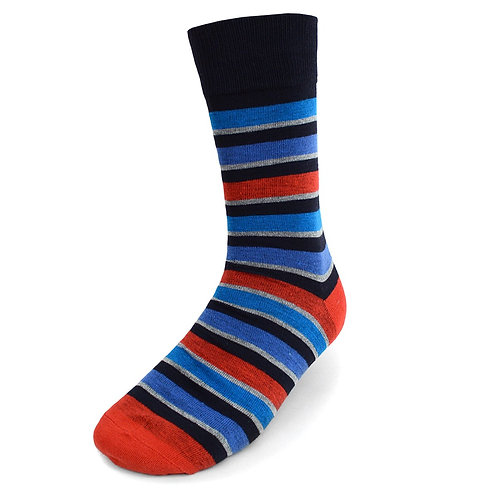 Men's Red Striped Casual Fancy Socks