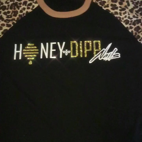 Honey Dipp Nails Cheetah Print Shirt