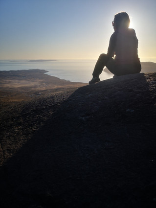 Corie Lagan in the Sun Set.