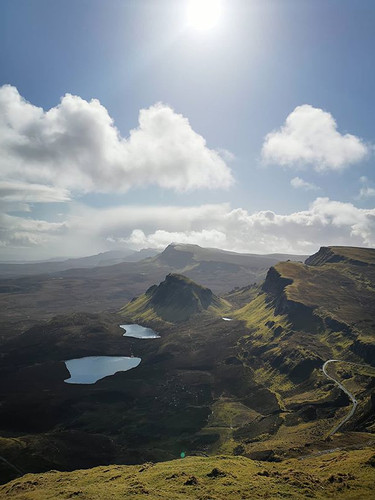 View over the Trotternish ridge from the Quiraing