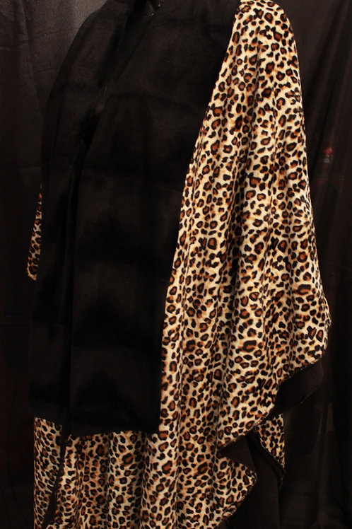 Cheetah Print Fleece Poncho