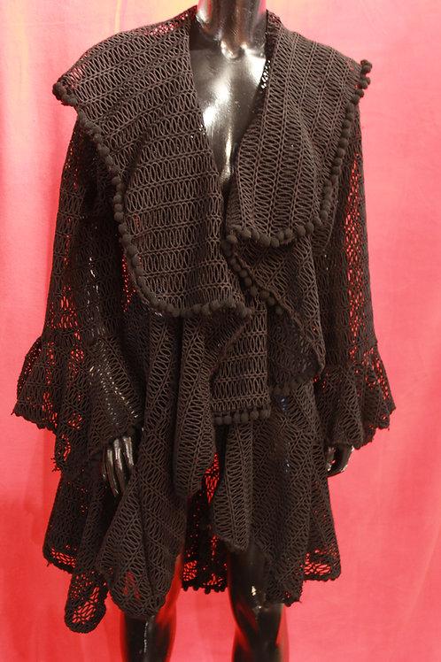 Black Eyelet Coat