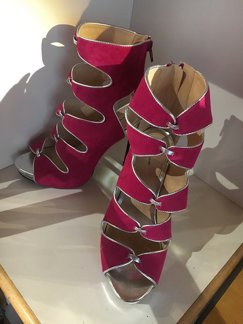 Pink and Silver Heels Size 6.5