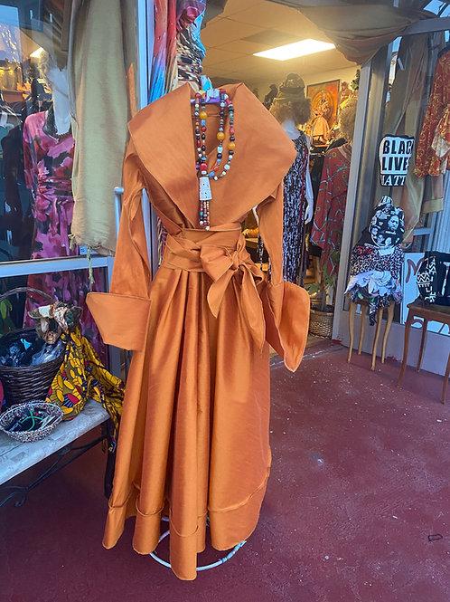 Dupioni Silk Wrap Dress