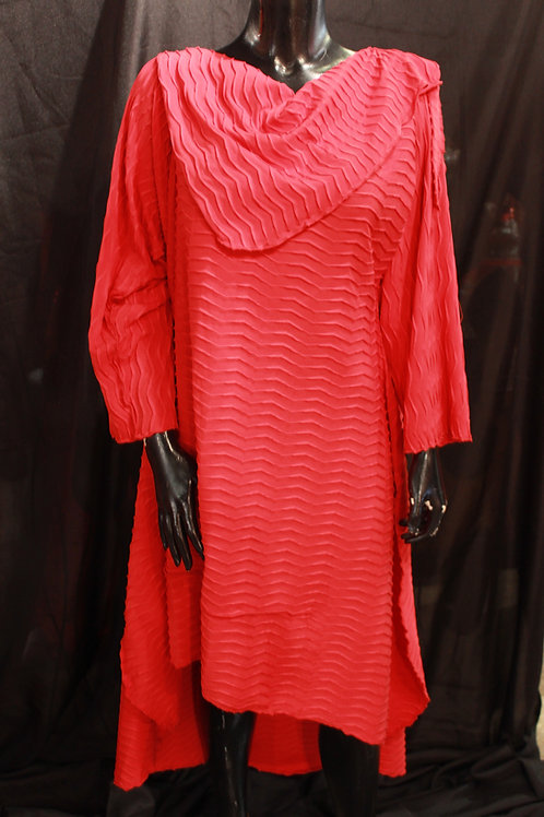 Red Cowl Dress