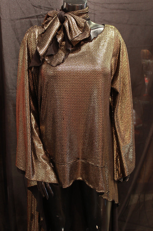 Gold Top With Scarf