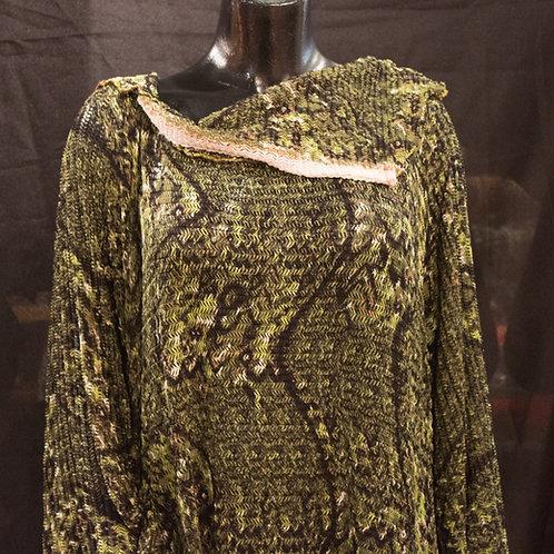 Green Cowl Knit Dress