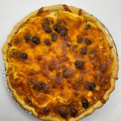 Turkey, Cranberry and Stuffing Quiche