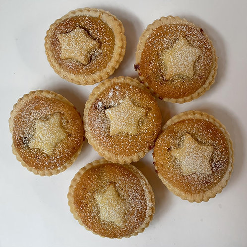 Mincepies with Almond Frangipani Topping and Marzipan Star