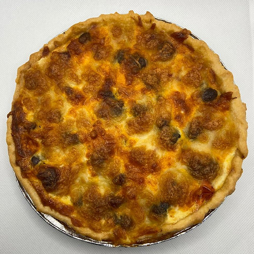 Roasted Tomato & Red Onion Quiche with Black Riviera Olives and Mozzarella