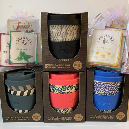 Bamboo Ecoffee Cup with Tea Infusions & Hot Chocolate