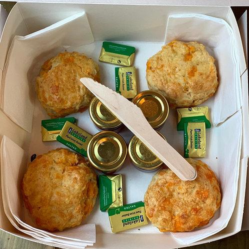 Cheese scone tea for four