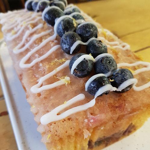 Lemon & Blueberry Drizzle Cake