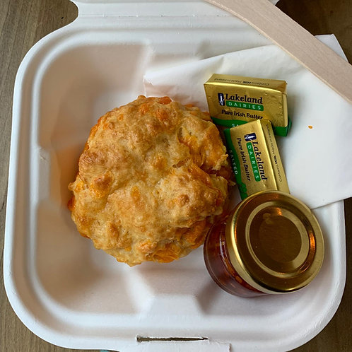 Cheese scone tea for one