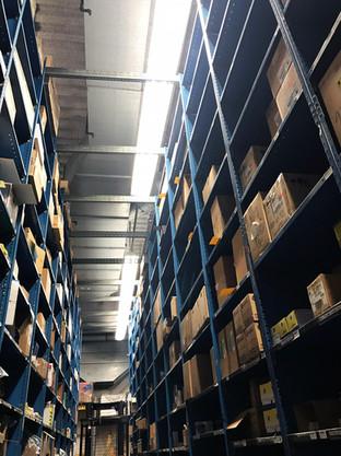Shelves of stock