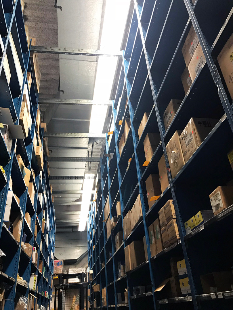 Shelves of stock