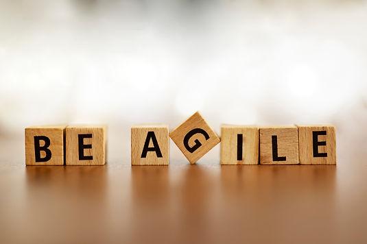 Agile Word Logo Agile Letters Overlay. Agile metodologhy with letters.jpg