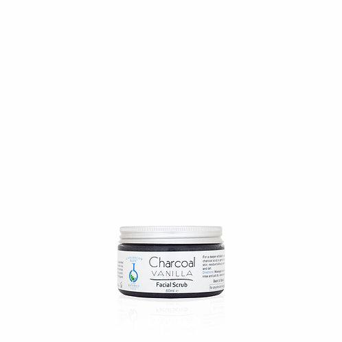 Charcoal Vanilla Facial Scrub
