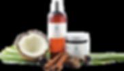 100% natural coconut skin care