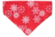 Bandana -Sparky- Snowflakes on Red DSC_3
