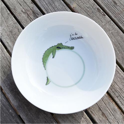 . Porcelaine de LimogesAssiette creuse