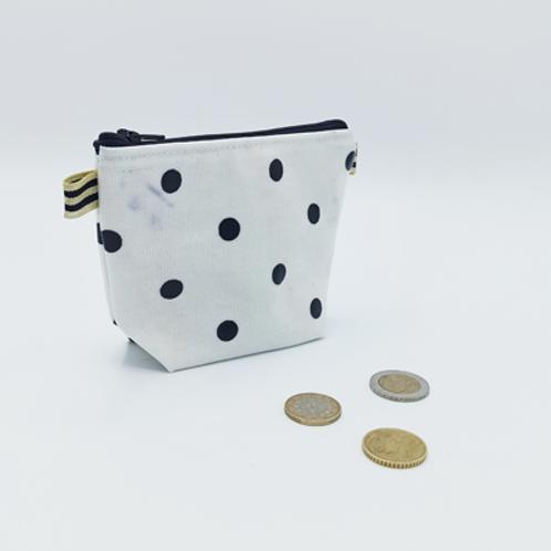 Porte monnaie . tissu ciré