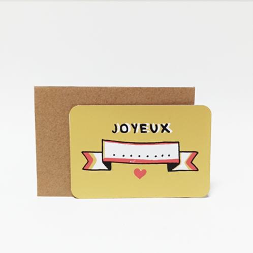 Joyeux .  Mini carte