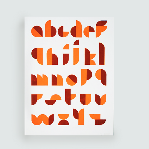 ABCD Orange Fluo . Illustration A3