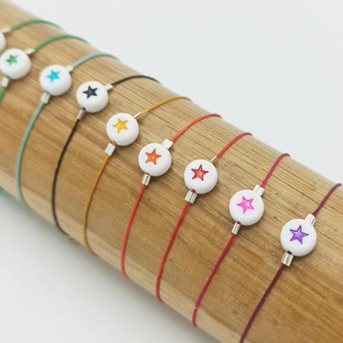 Bracelet Fil de jade .étoile
