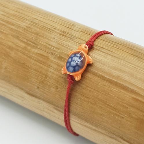 Bracelet . Tortue céramique
