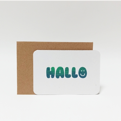 Hallo .  Mini carte