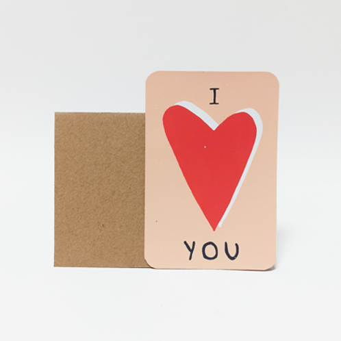 I LOVE YOU .  Mini carte