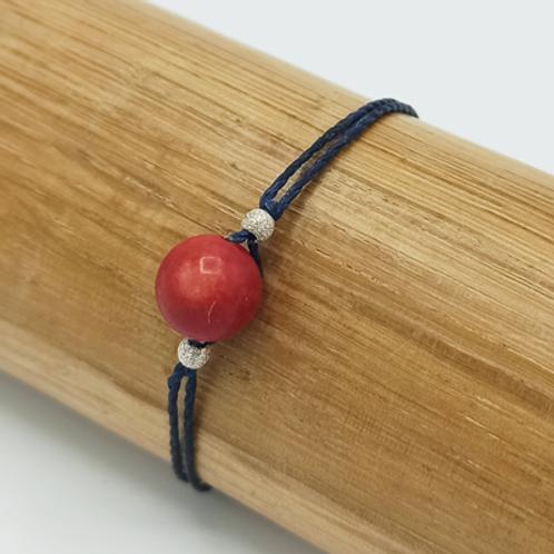 Bracelet . Pierre et perle argent