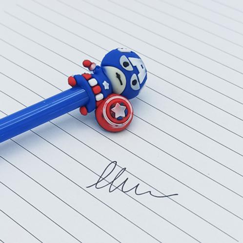 stylo encre Noir . Captain America