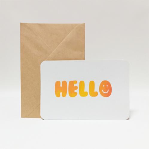 Hello . Carte 10X15cm