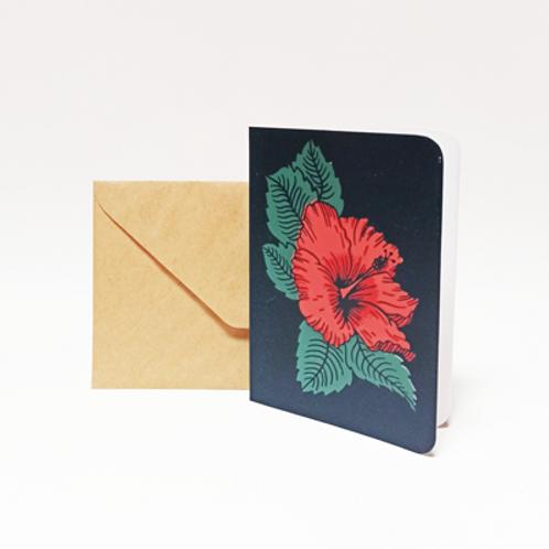 Hibiscus . Carte 10X15cm