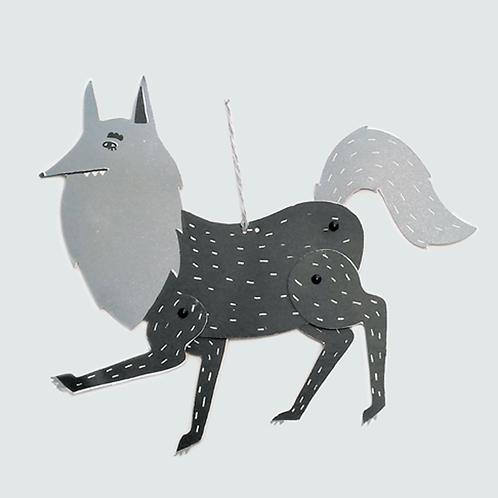 Loup . Pantin Papier