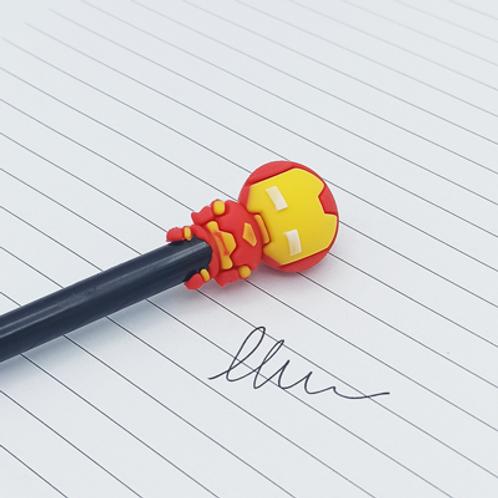stylo encre Noir .Iron Man
