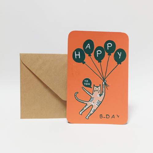 Happy B-day . Carte 10X15cm